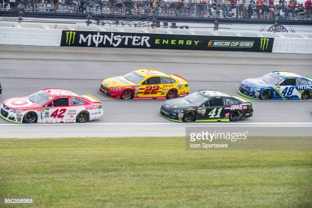 Chip Ganassi Racing Target Chevy driver Kyle Larson Team Penske Shell Pennzoil Ford driver Joey Logano StewartHaas Racing Monster Energy/Haas...