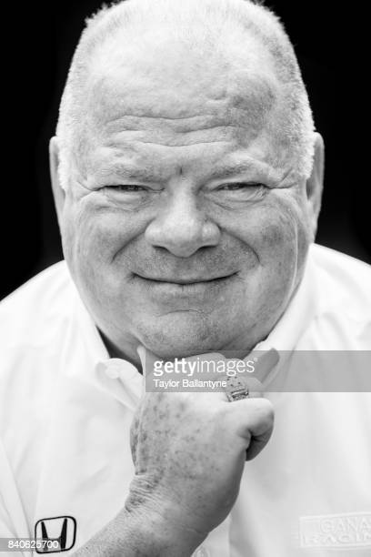 Chip Ganassi Racing team owner Chip Ganassi is photographed for Sports Illustrated on August 20 2017 at Pocono Raceway Verizon IndyCar Series at Long...