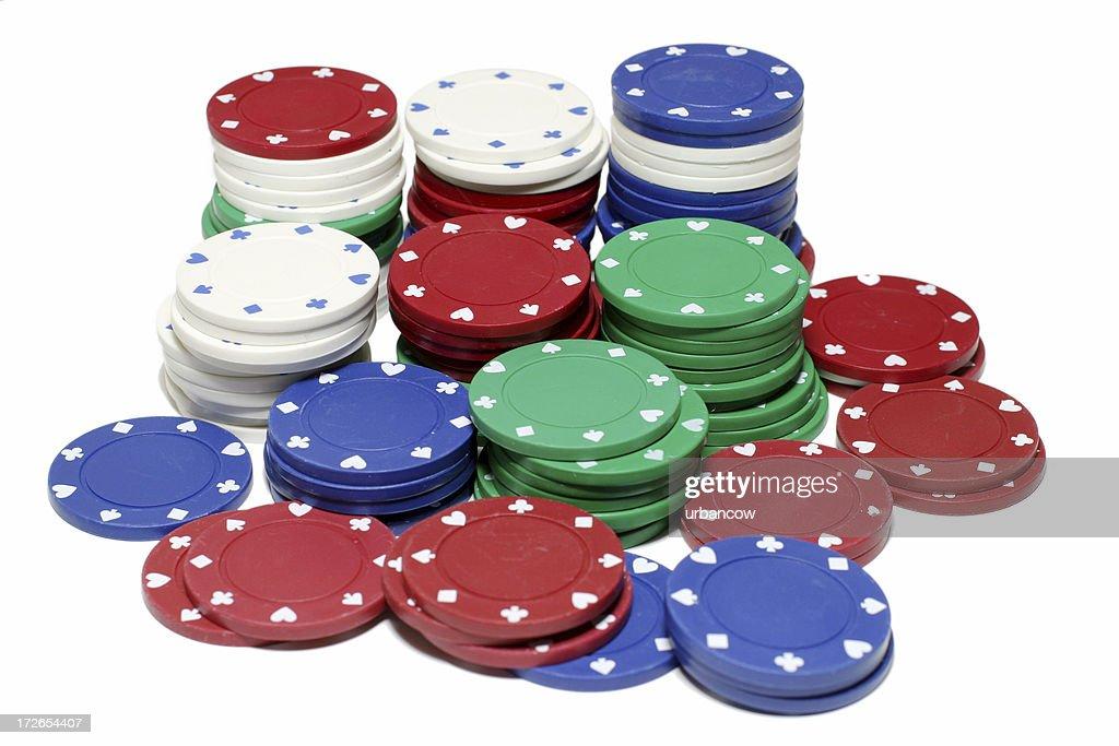 Chip stacks : Stock Photo