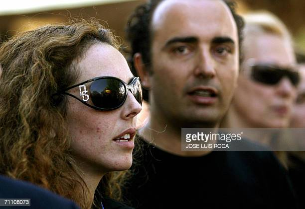 Rocio Carrasco daughter of Spanish singer Rocio Jurado is seen 02 June 2006 during the funeral service in her home town of Chipiona southern Spain...