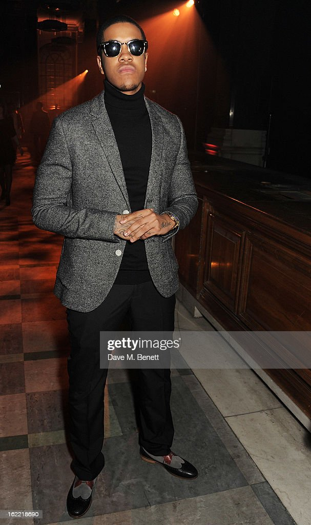 Chipmunk attends the Universal Music Brits Party hosted by Bacardi at the Soho House pop-up on February 20, 2013 in London, England.
