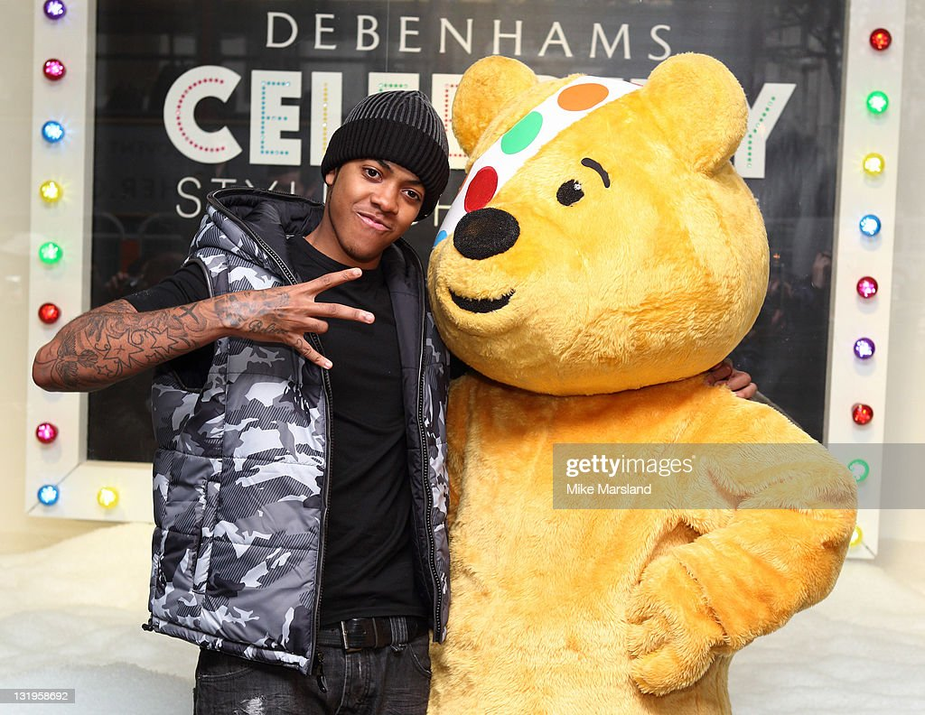 Chipmunk helps celebrate the launch of their fashion collection for BBC Children in Need Celebrity Style Challenge at Debenhams on November 9, 2011 in London, England.