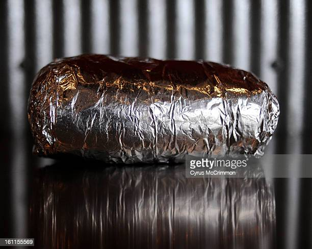 A Chipotle burrito in it's signature aluminum wrap on Friday February 12 2010 Burrito was that the original location on E Evans Ave Cyrus McCrimmon...