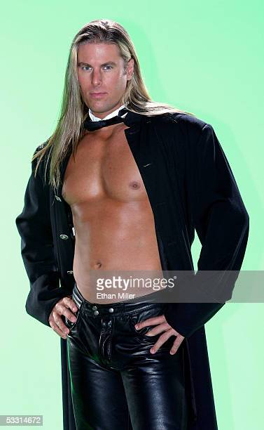 Chippendales dancer Kevin Cornell of Nevada poses at the Rio Hotel Casino during the Chippendales' annual calendar photo shoot August 1 2005 in Las...