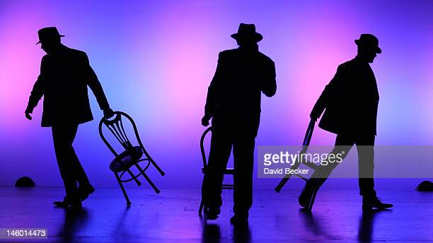 Chippendales dancers are silhouetted as they perform with special guest Joey Lawrence at the Chippendales show at the Rio Hotel Casino on June 8 2012...