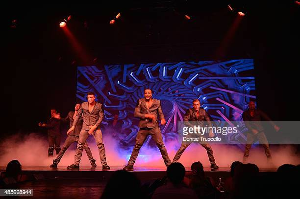 Chippendales perform at Rio AllSuite Hotel Casino on August 28 2015 in Las Vegas Nevada