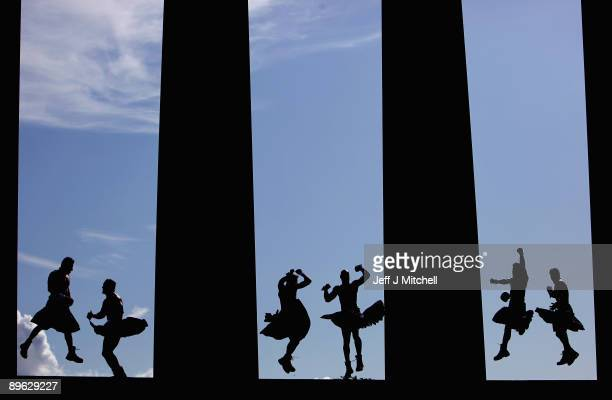 Chippendales promote their Edinburgh Fringe show on top of Calton hill on August 6 2009 in Edinburgh Scotland The act returns to the UK for the first...