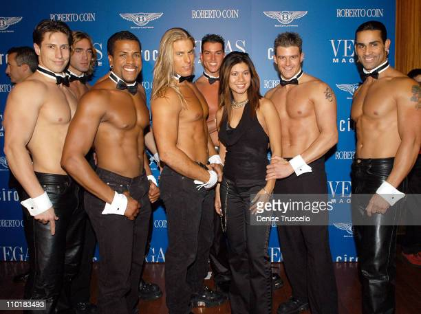 Chippendales With Christina Trainor during Vegas Magazine Launch Party at Rain at The Palms Casino Resort in Las Vegas Nevada United States