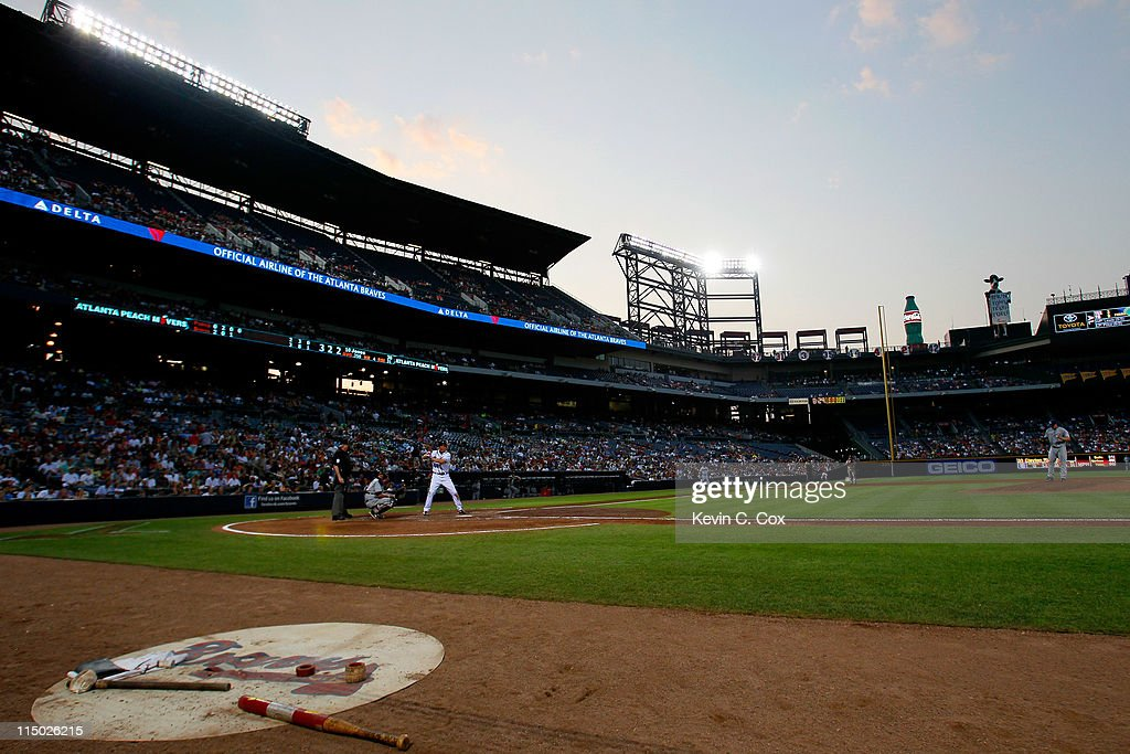 <a gi-track='captionPersonalityLinkClicked' href=/galleries/search?phrase=Chipper+Jones&family=editorial&specificpeople=171256 ng-click='$event.stopPropagation()'>Chipper Jones</a> #10 of the Atlanta Braves bats against the San Diego Padres at Turner Field on June 1, 2011 in Atlanta, Georgia.