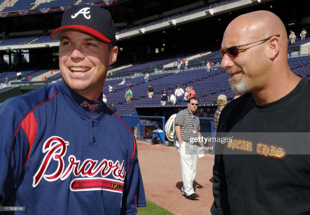 Chipper Jones of the Atlanta Braves with Bill Goldberg