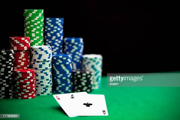 Chips and 2 aces