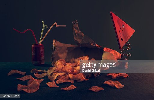 Chips on a table