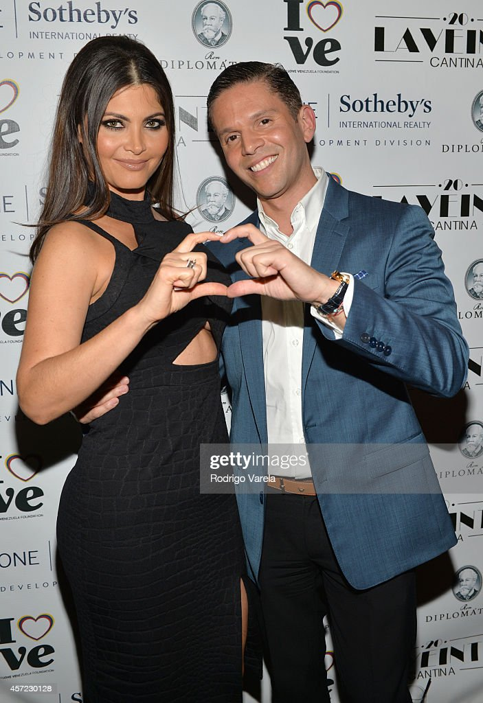 Chiquinquira Delgado and Rodner Figueroa attend I Love Venezuelan Foundation Event Cantina La No. 20 at The Icon Brickell on October 14, 2014 in Miami, Florida.