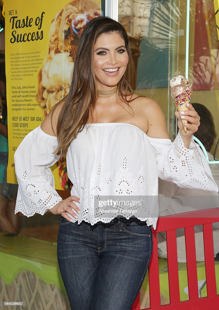 Chiquinquira Delgado is seen at the 'Taste for Success' event to benefit Dress for Success Miami at The Frieze Ice Cream Factory on July 27 2016 in...