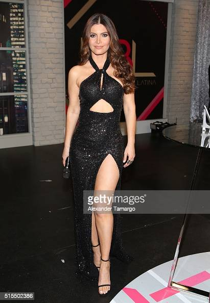 Chiquinquira Delgado is seen backstage on the set of 'Nuestra Belleza Latina' at Univision Studios on March 13 2016 in Miami Florida