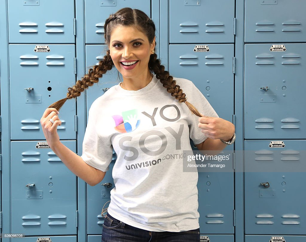 Chiquinquira Delgado is seen during Univision's Media Centers/Week of Service at Ruben Dario Middle School on April 29, 2016 in Miami, Florida.