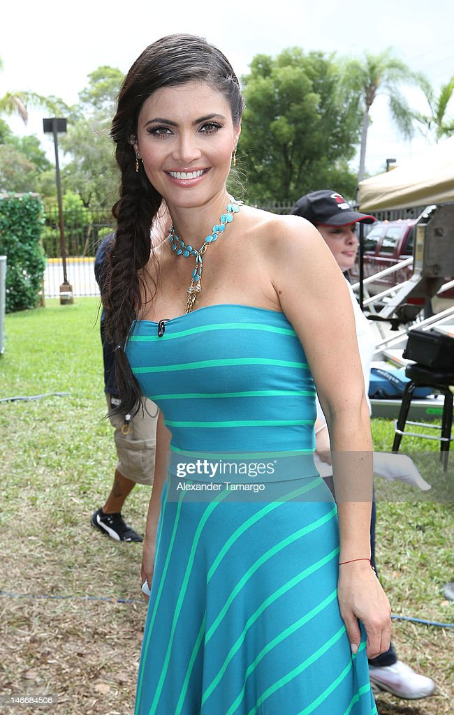 Chiquinquira Delgado poses during Univision's 'Despierta America' Morning Concert Series on June 22, 2012 in Miami, Florida.