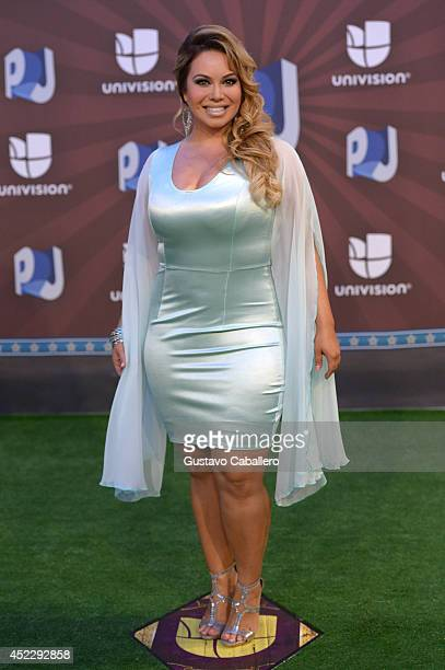 Chiquis attends the Premios Juventud 2014 at The BankUnited Center on July 17 2014 in Coral Gables Florida