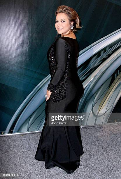 Chiquis Marin attends the 2015 Premios Lo Nuestros Awards at American Airlines Arena on February 19 2015 in Miami Florida