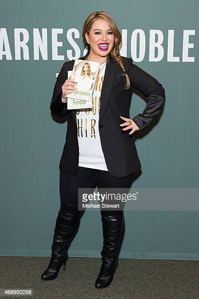 Chiquis Rivera attends a signing for her book 'Forgiveness' at Barnes Noble Tribeca on April 8 2015 in New York City