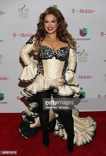 Chiquis Rivera attends the 2015 Premios Lo Nuestros Awards at American Airlines Arena on February 19 2015 in Miami Florida
