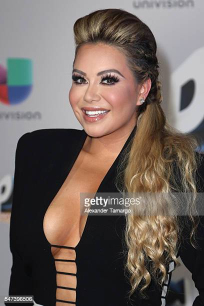 Chiquis Rivera attends the Univision's 13th Edition Of Premios Juventud Youth Awards at Bank United Center on July 14 2016 in Miami Florida