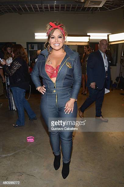 Chiquis Rivera attends Univision's Premios Juventud 2015 at Bank United Center on July 16 2015 in Miami Florida