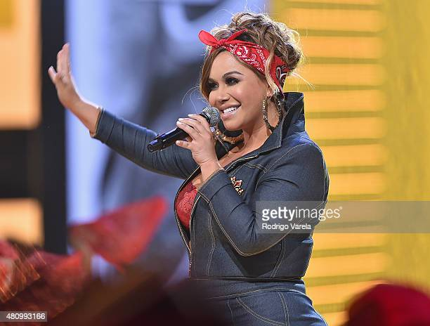 Chiquis Rivera performs onstage at Univision's Premios Juventud 2015 at Bank United Center on July 16 2015 in Miami Florida