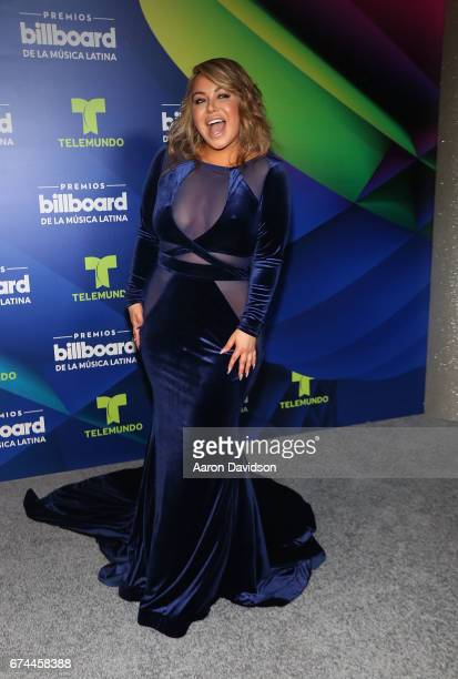 Chiquis Rivera poses backstage during the Billboard Latin Music Awards at Watsco Center on April 27 2017 in Coral Gables Florida