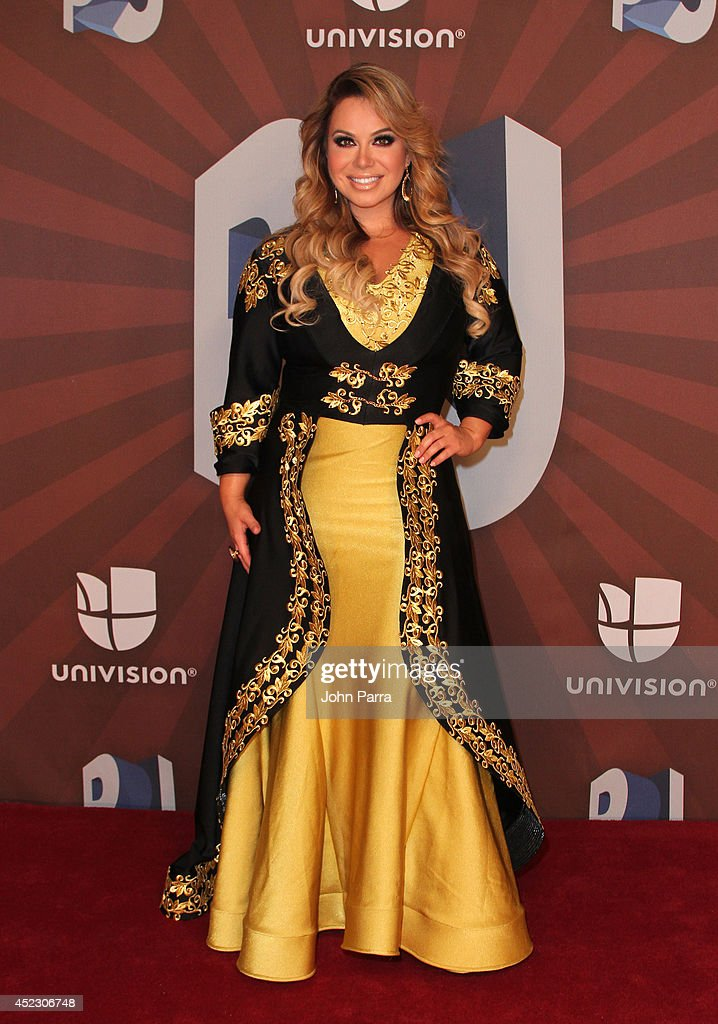 Chiquis Rivera poses in the press room during the Premios Juventud 2014 at The BankUnited Center on July 17, 2014 in Coral Gables, Florida.