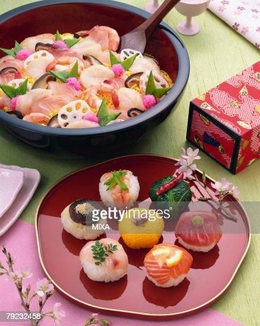 Chirashi sushi : Stock Photo