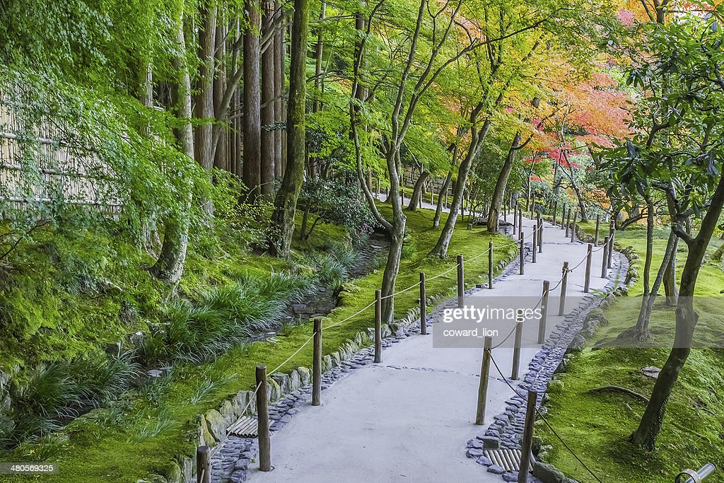 Chisen-kaiyushiki, Pond-stroll garden in Ginkaku-ji temple in Kyoto : Stock Photo