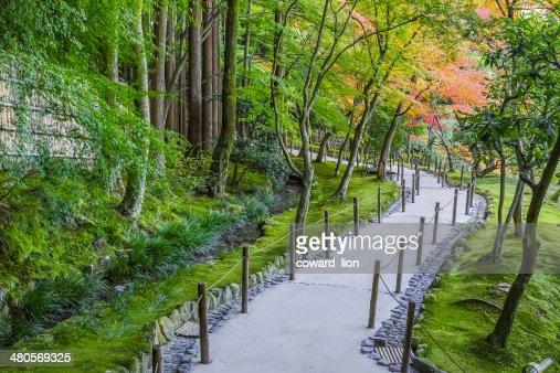 Chisen-kaiyushiki, Pond-stroll garden in Ginkaku-ji temple in Kyoto : Stock Photo