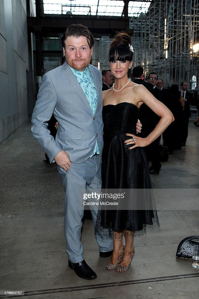 Chit Chat and Jane Gazzo pose during the 12th ASTRA Awards at Carriageworks on March 20, 2014 in Sydney, Australia.