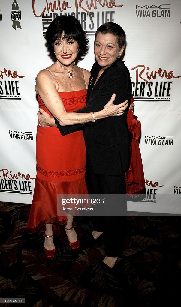 Chita Rivera and Graciela Daniele during 'Chita Rivera: The Dancer's Life' Broadway Opening Night - After Party at The Copacabana in New York City, New York, United States.