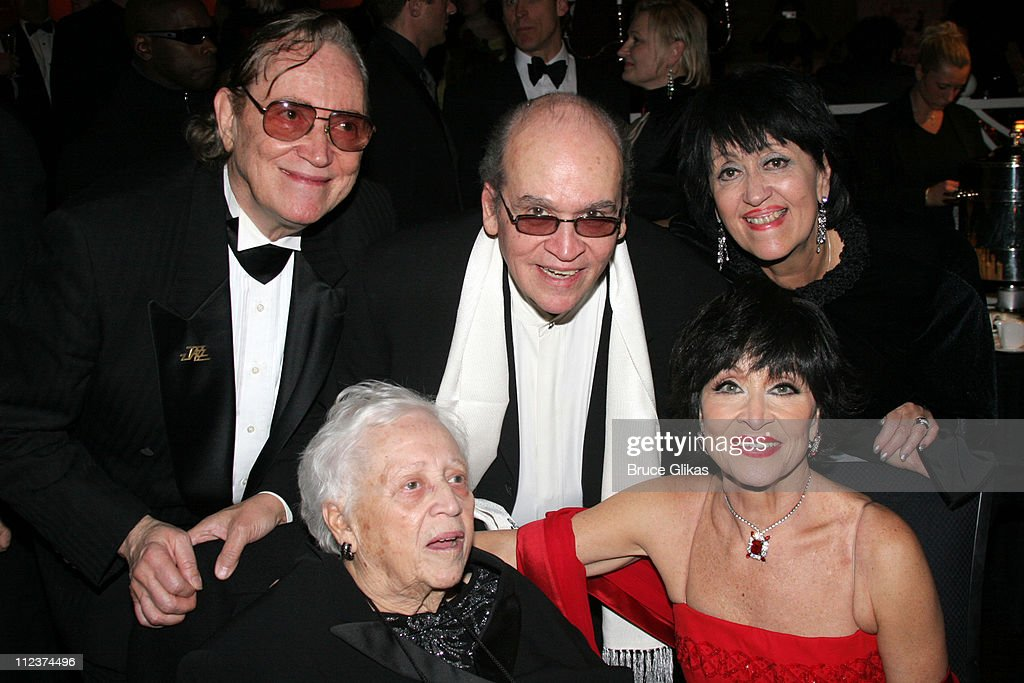 Chita Rivera and her family during 'Chita Rivera: The Dancer's Life' Broadway Opening Night - After Party at The Gerald Schoenfeld Theatre, then The Copacabana in New York City, New York, United States.