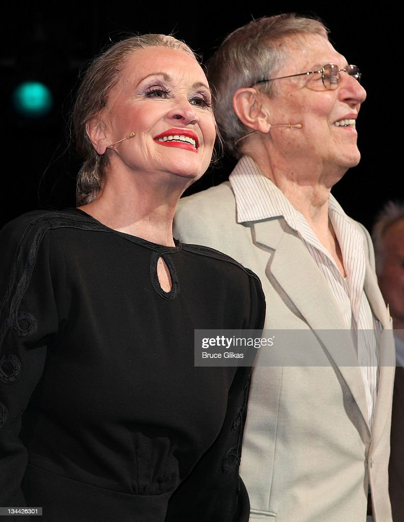 Chita Rivera and John Cullum take the curtain call in 'The Visit' OneNightOnly Broadway benefit performance at the Ambassador Theatre on November 30...