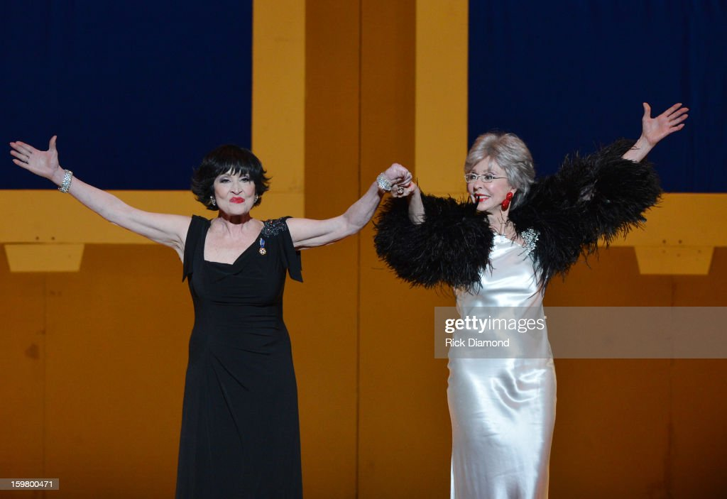 <a gi-track='captionPersonalityLinkClicked' href=/galleries/search?phrase=Chita+Rivera&family=editorial&specificpeople=206571 ng-click='$event.stopPropagation()'>Chita Rivera</a> (L) and <a gi-track='captionPersonalityLinkClicked' href=/galleries/search?phrase=Rita+Moreno&family=editorial&specificpeople=210549 ng-click='$event.stopPropagation()'>Rita Moreno</a> perform at Latino Inaugural 2013: In Performance at Kennedy Center at The Kennedy Center on January 20, 2013 in Washington, DC.
