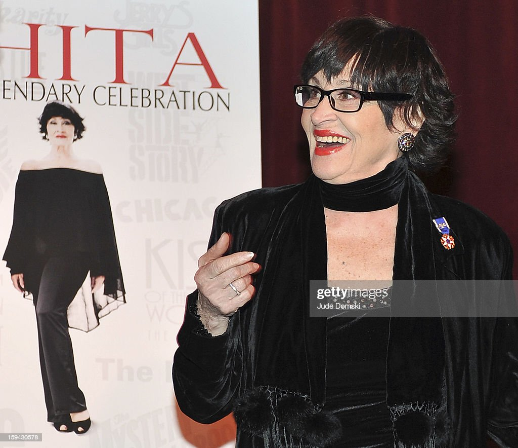 <a gi-track='captionPersonalityLinkClicked' href=/galleries/search?phrase=Chita+Rivera&family=editorial&specificpeople=206571 ng-click='$event.stopPropagation()'>Chita Rivera</a> at a Press Conference on January 13, 2013 at Birdland Jazz Club in New York City annouced that she will perform in a star-studded gala event 'Chita: A Legendary Celebration' to benefit Broadway Cares/ Equity Fights AIDS.