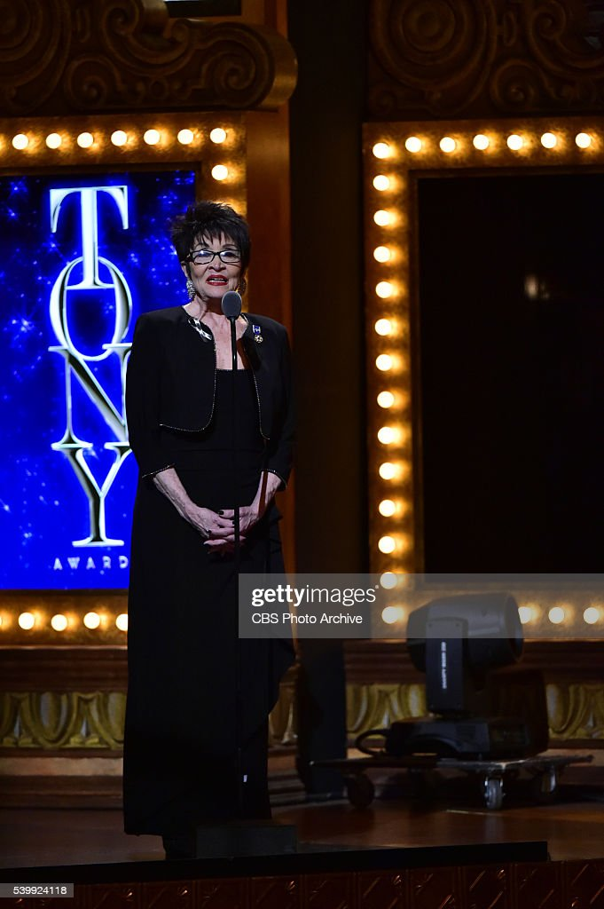 Chita Rivera at THE 70TH ANNUAL TONY AWARDS live from the Beacon Theatre in New York City Sunday June 12 on the CBS Television Network