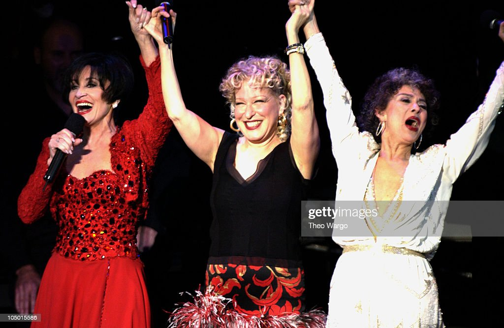 Chita Rivera Bette Midler and Rita Moreno during Katie Couric and the Entertainment Industry Foundation Unite Hollywood Broadway Stars to Launch The...