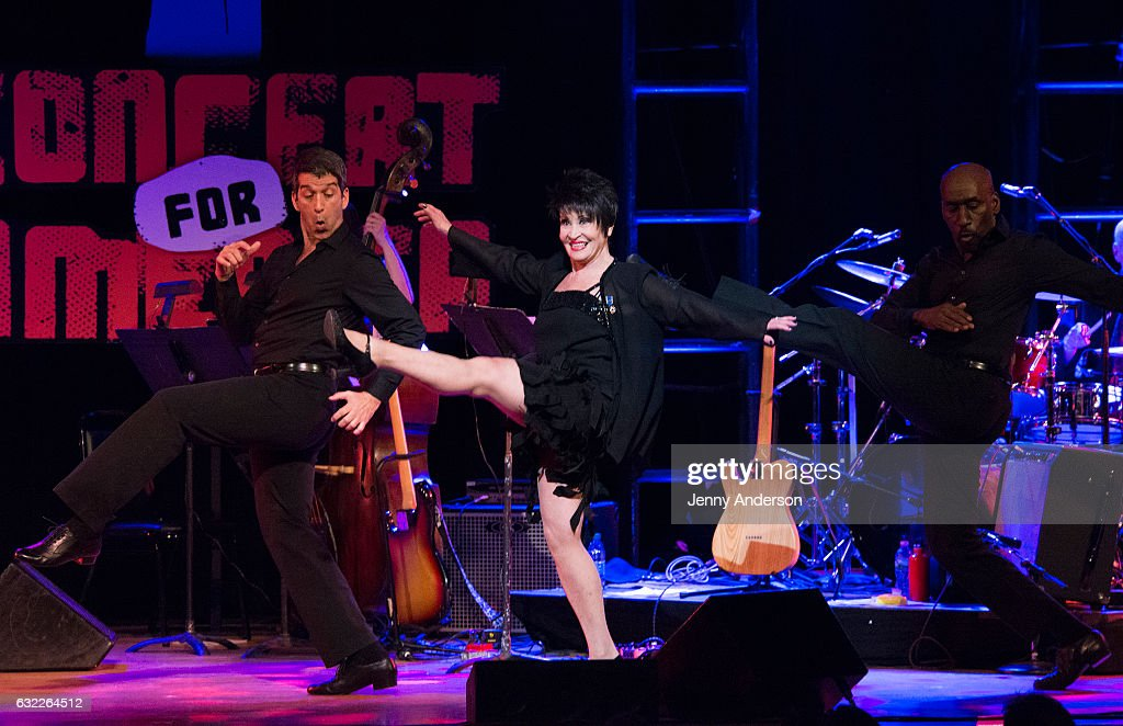 Chita Rivera performs during Concert For America: Stand Up, Sing Out! at Town Hall on January 20, 2017 in New York City.