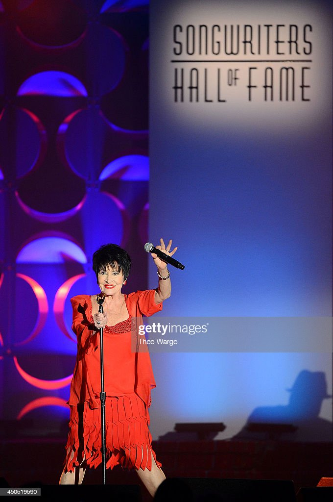Chita Rivera performs onstage at the Songwriters Hall of Fame 45th Annual Induction and Awards at Marriott Marquis Theater on June 12 2014 in New...