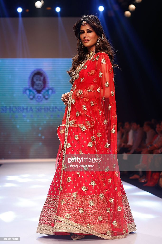 Chitrangada Singh walks the runway at the Shoba Shringar show during Day 1 of the India International Jewellery Week at the Grand Hyatt on August 3, 2015 in Mumbai, India.