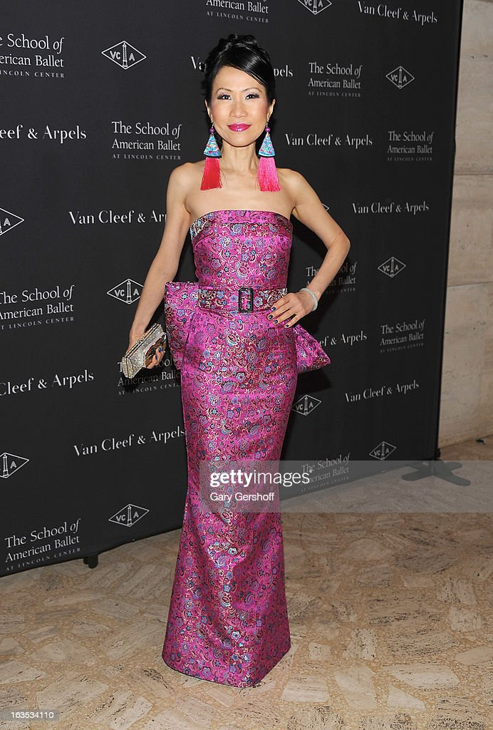Chiu- Ti Jansen attends the 2013 School Of American Ballet Winter Ball: A Night In The Far East at David H. Koch Theater, Lincoln Center on March 11, 2013 in New York City.