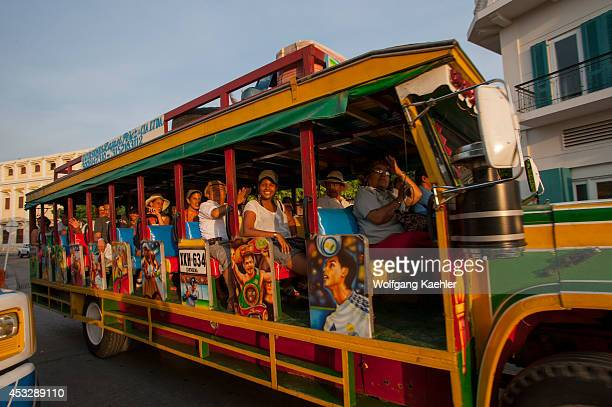 Chiva bus ride with live music in Cartagena Colombia