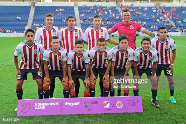 Chivas U20s pose for a photo prior to the first half during a soccer match between the MLS Homegrown Team and the Chivas de Guadalajara Under20 Team...