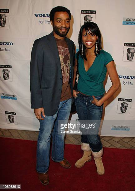 Chiwetel Ejiofor and guest during BAFTA/LA Awards Season Tea Party at Four Season Hotel in Los Angeles CA United States