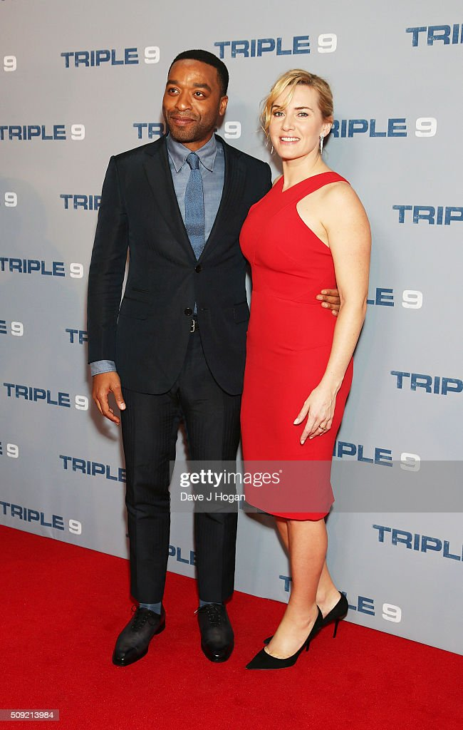 <a gi-track='captionPersonalityLinkClicked' href=/galleries/search?phrase=Chiwetel+Ejiofor&family=editorial&specificpeople=213998 ng-click='$event.stopPropagation()'>Chiwetel Ejiofor</a> (L) and <a gi-track='captionPersonalityLinkClicked' href=/galleries/search?phrase=Kate+Winslet&family=editorial&specificpeople=201923 ng-click='$event.stopPropagation()'>Kate Winslet</a> attend a special screening of 'Triple 9' at Ham Yard Hotel on February 9, 2016 in London, England.
