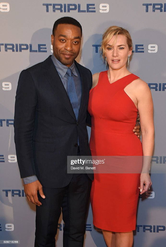 <a gi-track='captionPersonalityLinkClicked' href=/galleries/search?phrase=Chiwetel+Ejiofor&family=editorial&specificpeople=213998 ng-click='$event.stopPropagation()'>Chiwetel Ejiofor</a> and <a gi-track='captionPersonalityLinkClicked' href=/galleries/search?phrase=Kate+Winslet&family=editorial&specificpeople=201923 ng-click='$event.stopPropagation()'>Kate Winslet</a> attend a special screening of 'Triple 9' at The Ham Yard Hotel on February 9, 2016 in London, England.
